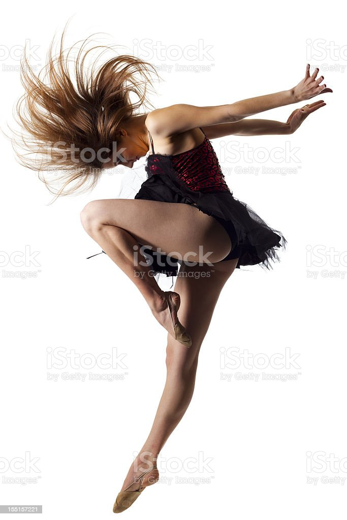 The dancer isolated on white royalty-free stock photo