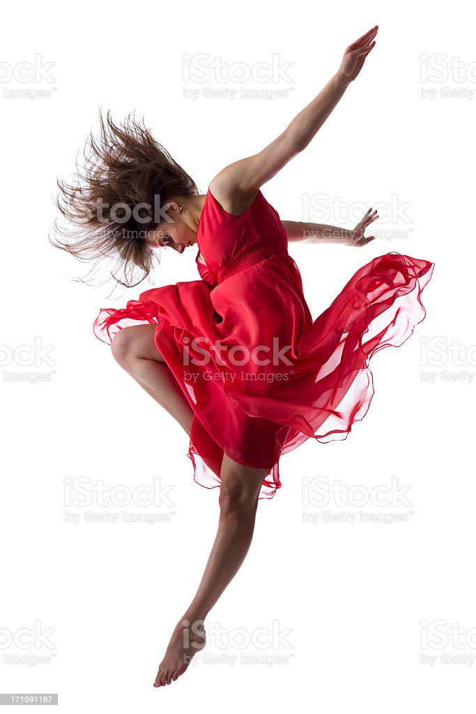The dancer isolated on white stock photo