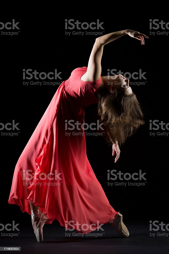 The Dancer on black background royalty-free stock photo