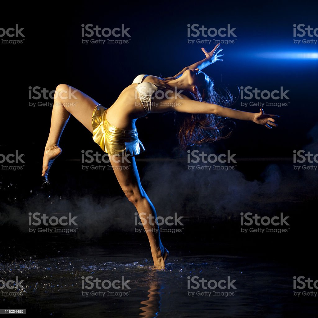 The dancer on water stock photo