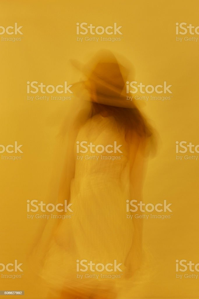 The Dancer Woman in Motion stock photo