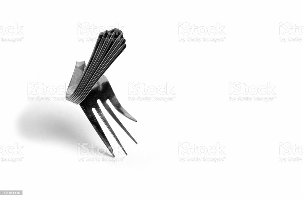 The Dancing Fork royalty-free stock photo