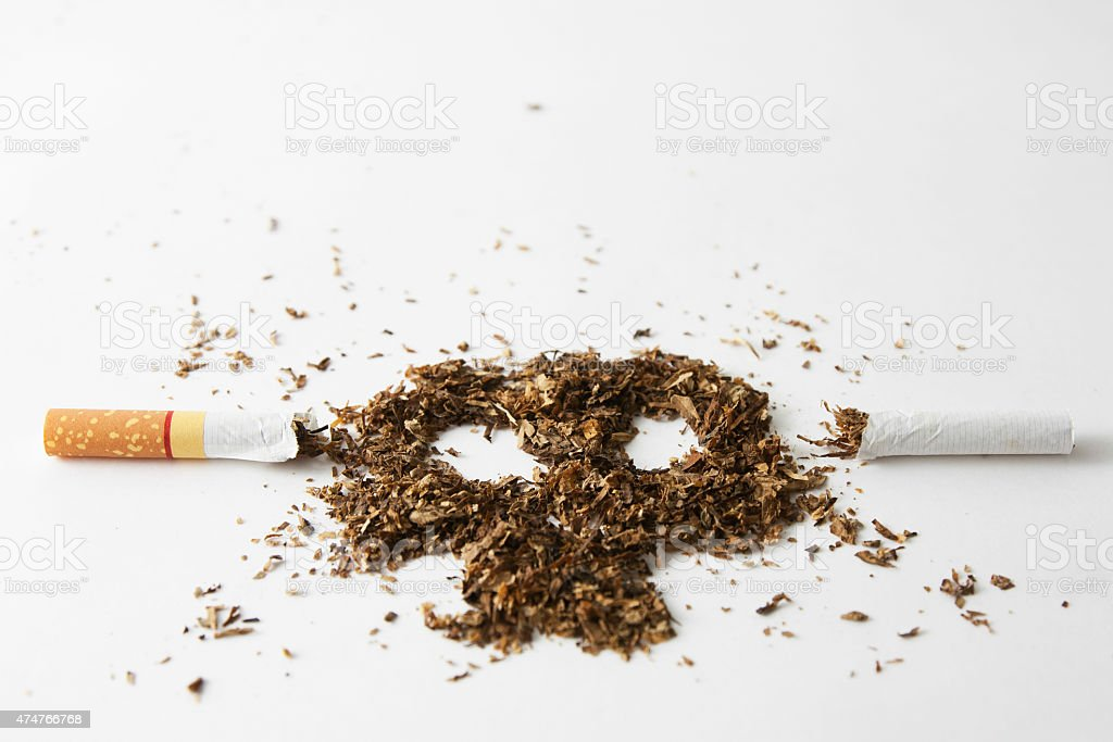 The dangers of smoking stock photo
