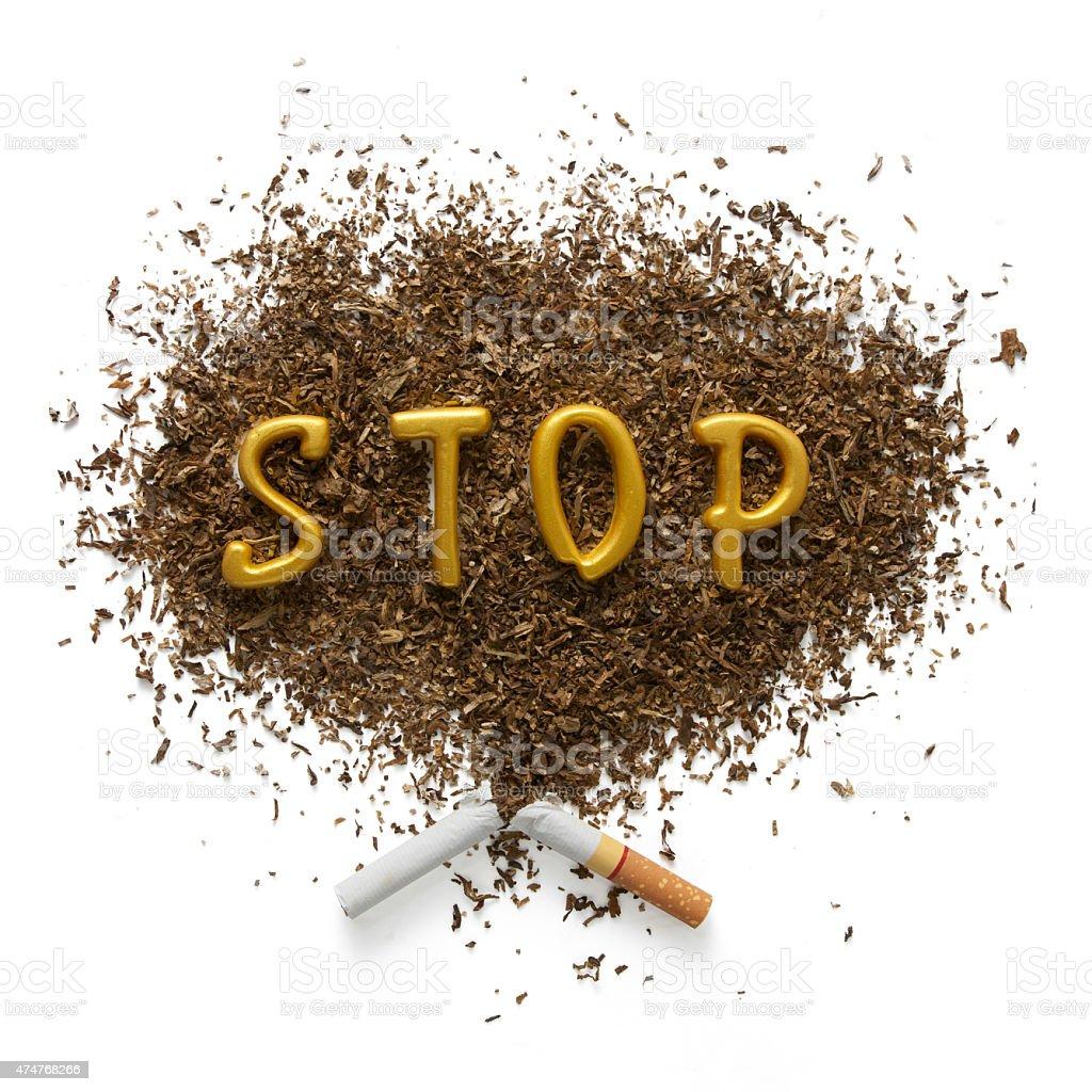 The dangers of smoking stock photo
