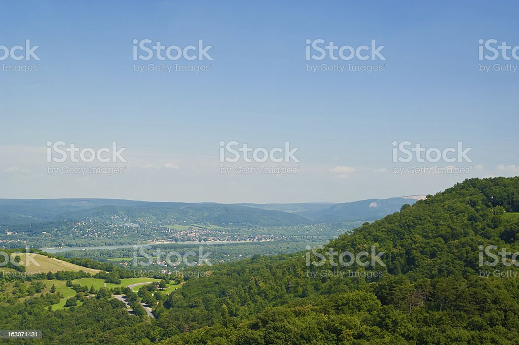 The Danube curve royalty-free stock photo