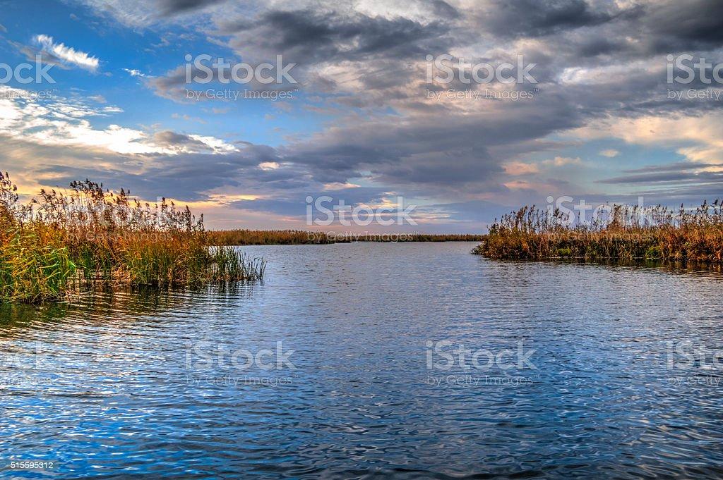 The Danube Delta Canal stock photo