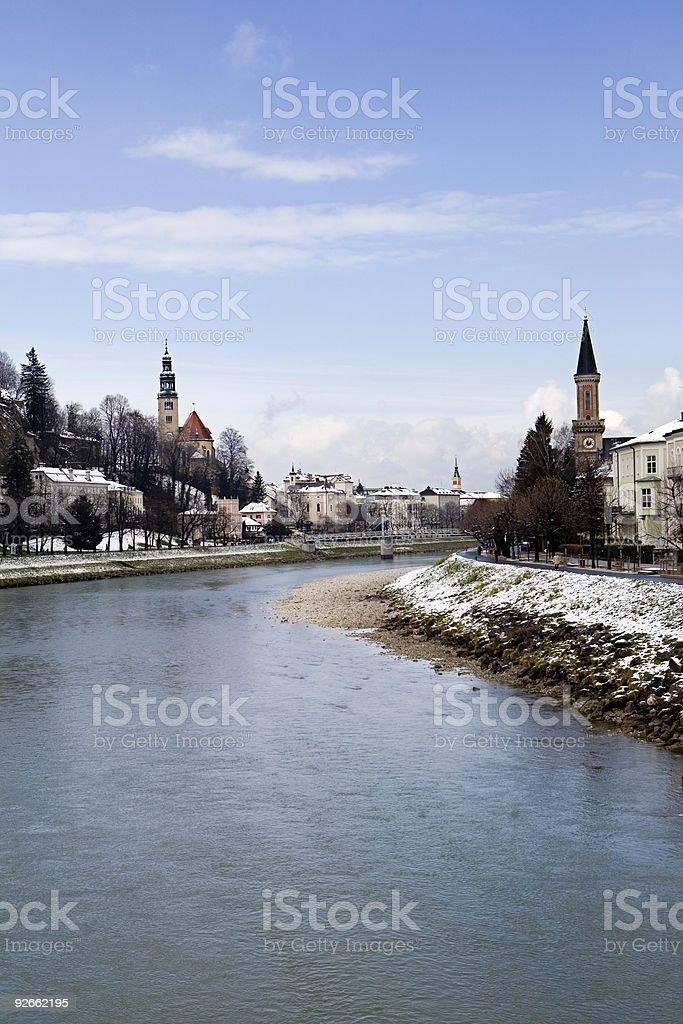 The Danube Flows Through Salzburg royalty-free stock photo
