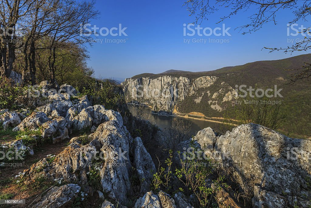 The Danube Gorges royalty-free stock photo