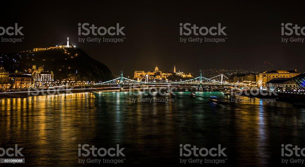 The Danube in Budapest stock photo
