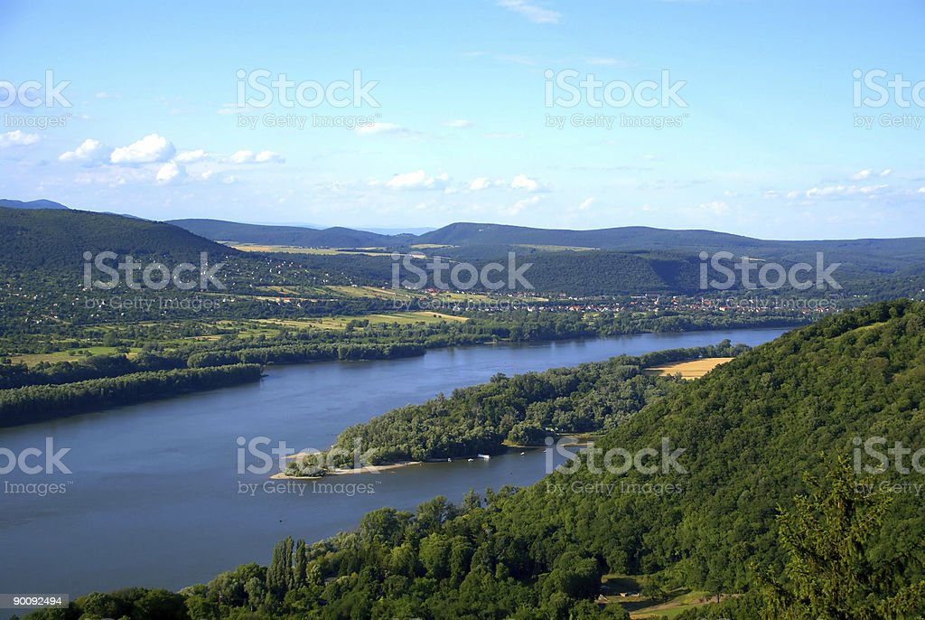 The Danube river stock photo