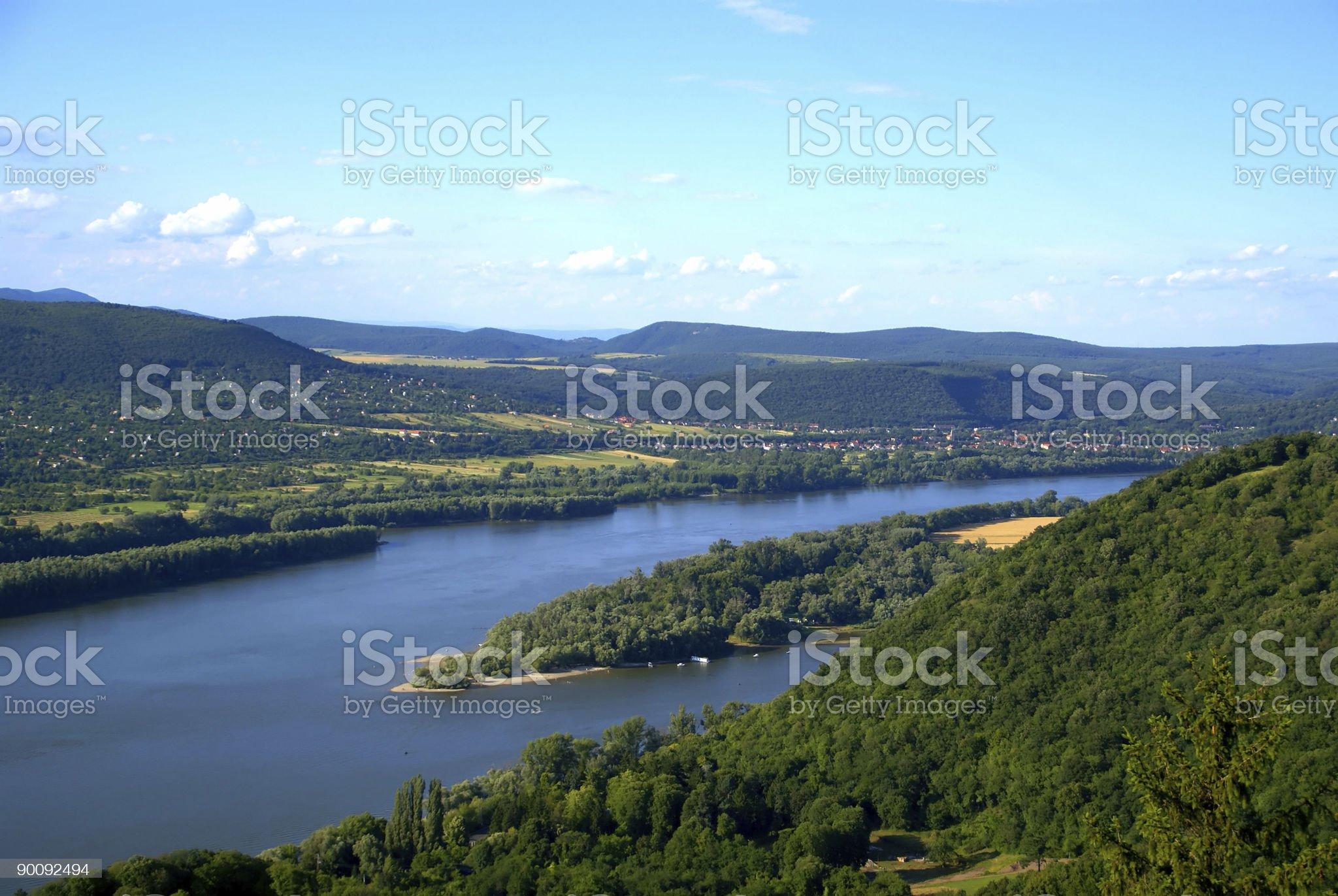 The Danube river royalty-free stock photo