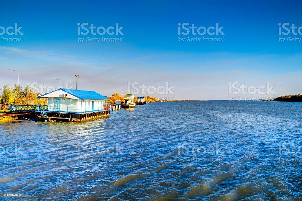 The Danube-Black Sea Canal stock photo