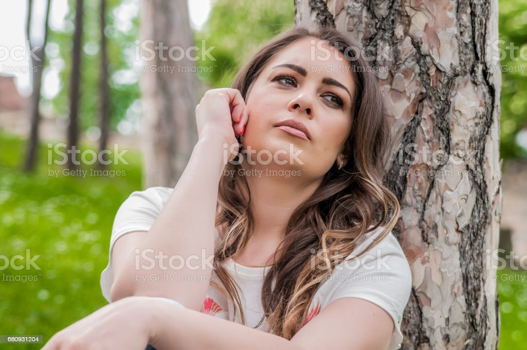 The dark side of depression stock photo