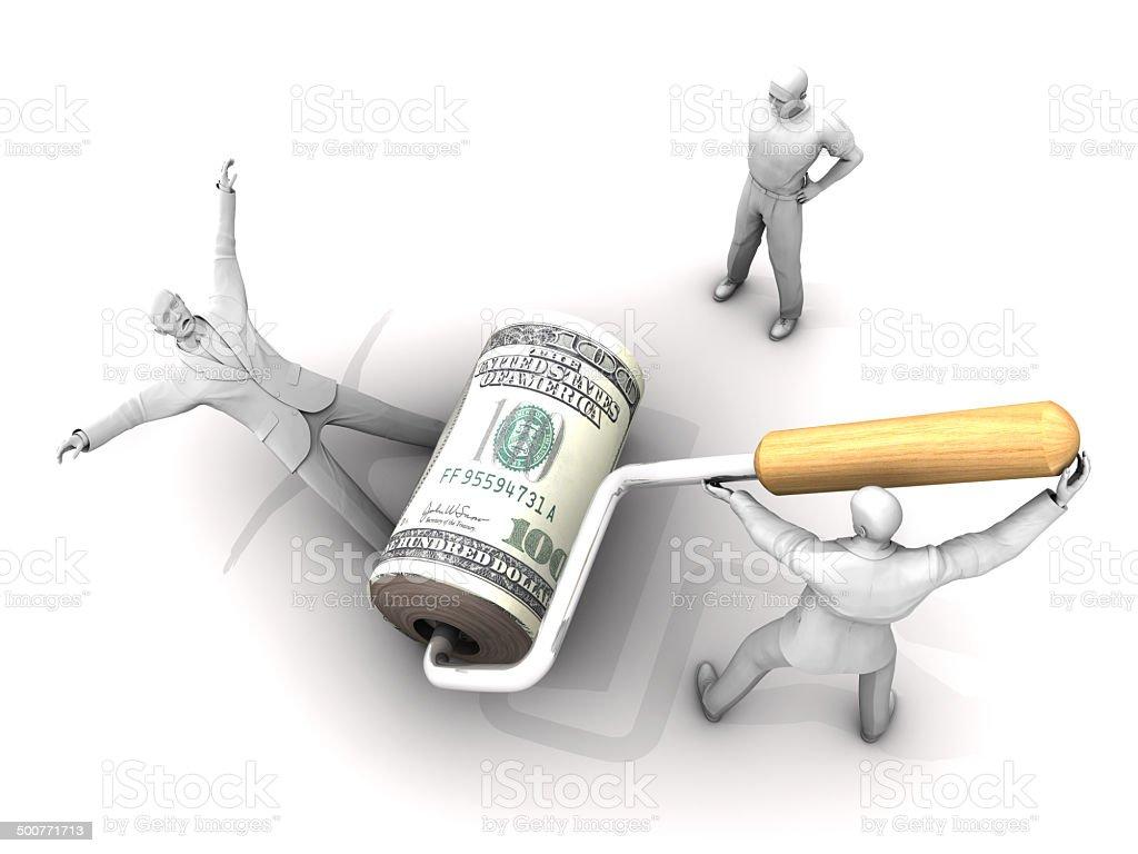 The Dark Side of Money stock photo