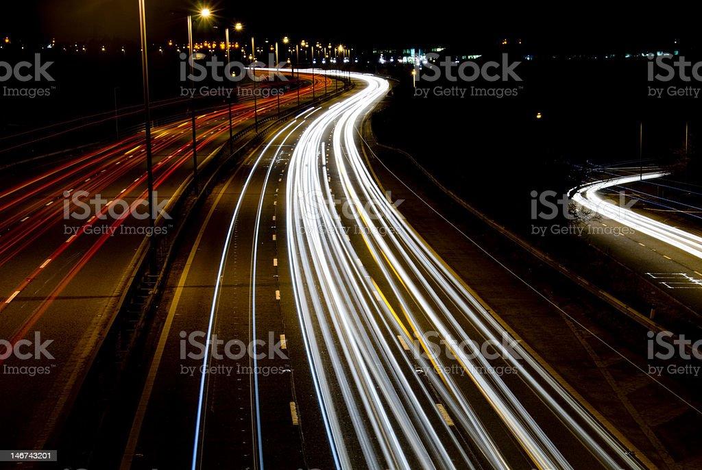 The Darkened Road stock photo