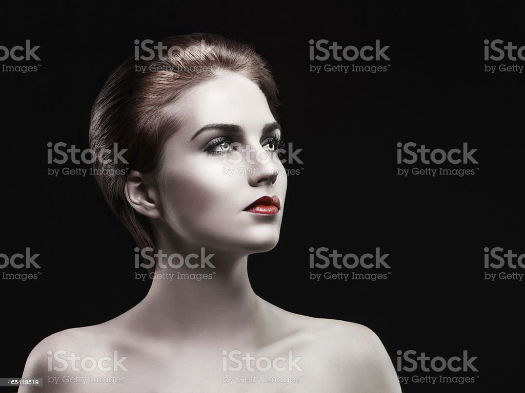 The darker side of beauty stock photo