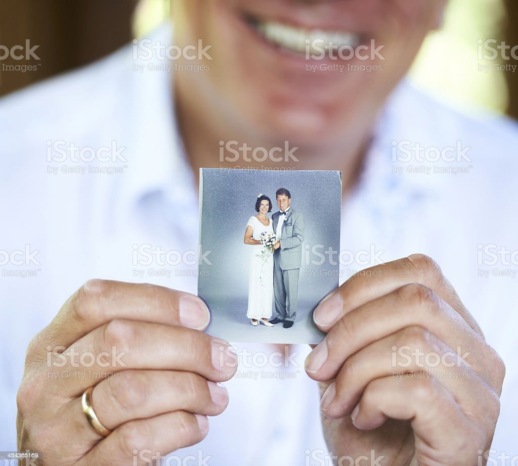 The day we got married... stock photo