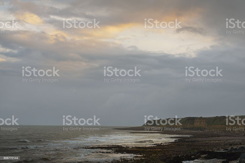 The D-day coastline in Normandy, France stock photo