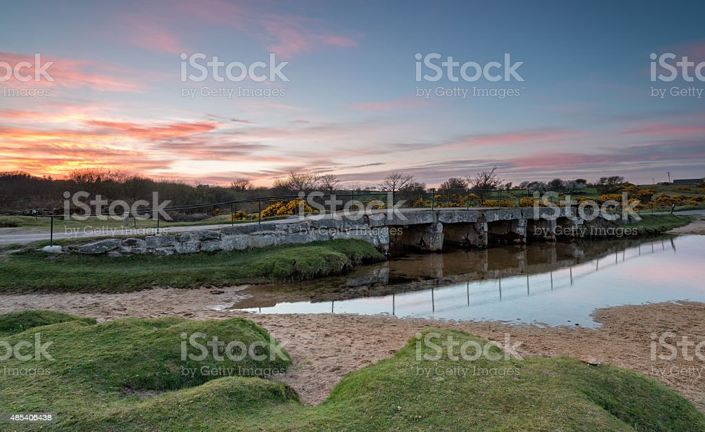 The De lank river in Cornwall stock photo