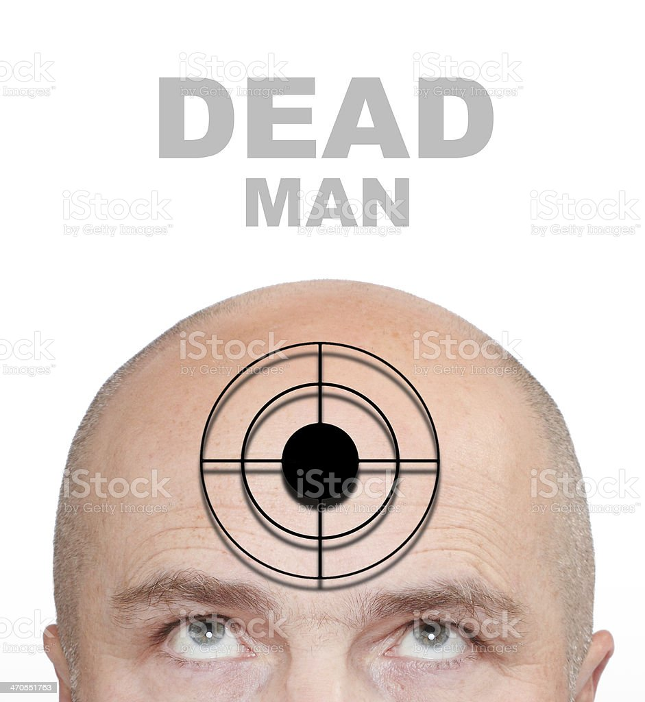 The Dead Man. stock photo
