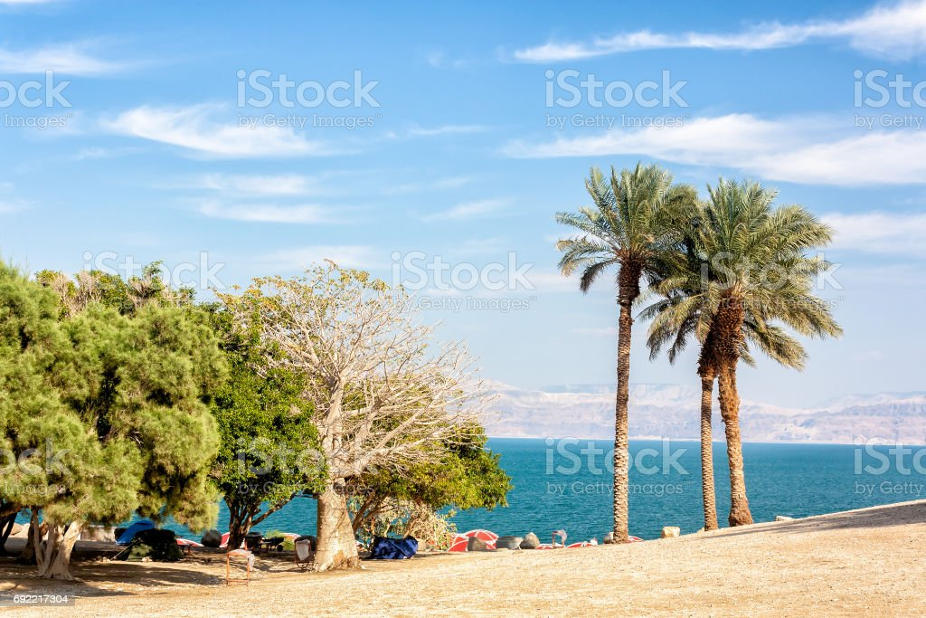 The Dead Sea in Winter -The Holy Land stock photo