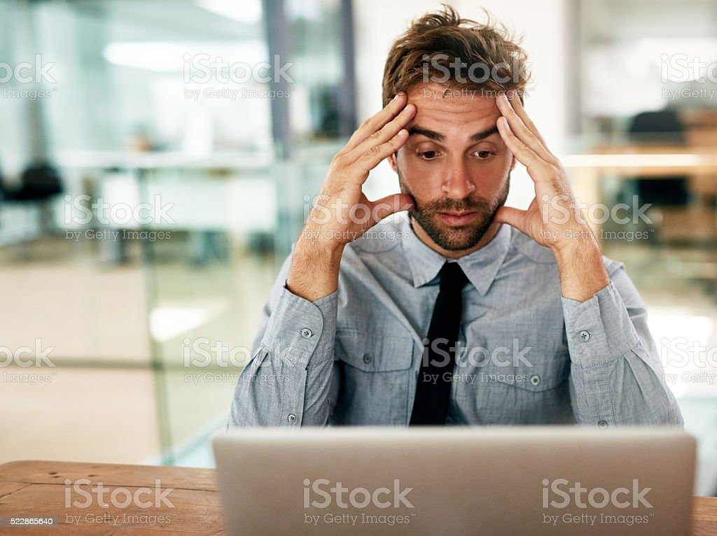 The deadline is getting the better of him stock photo