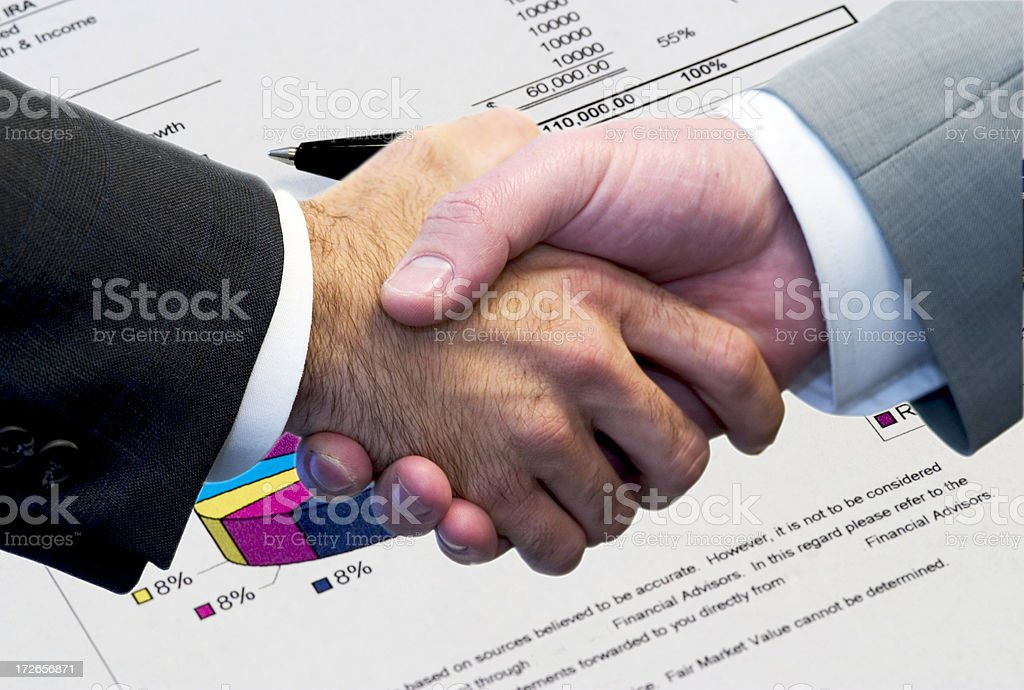 Il deal viene fatto foto stock royalty-free