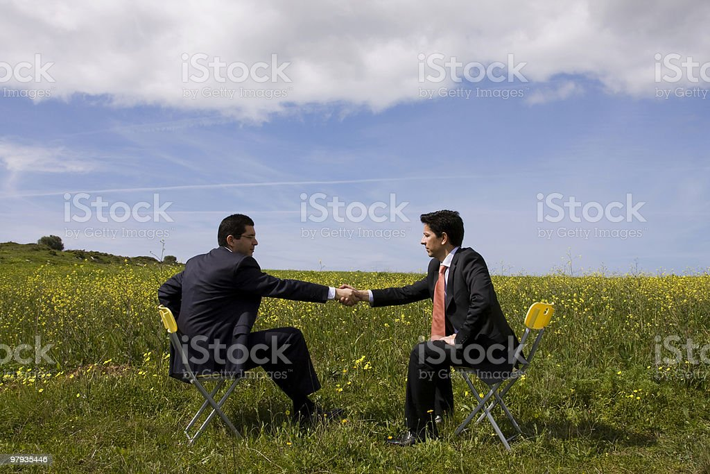 The Deal royalty-free stock photo