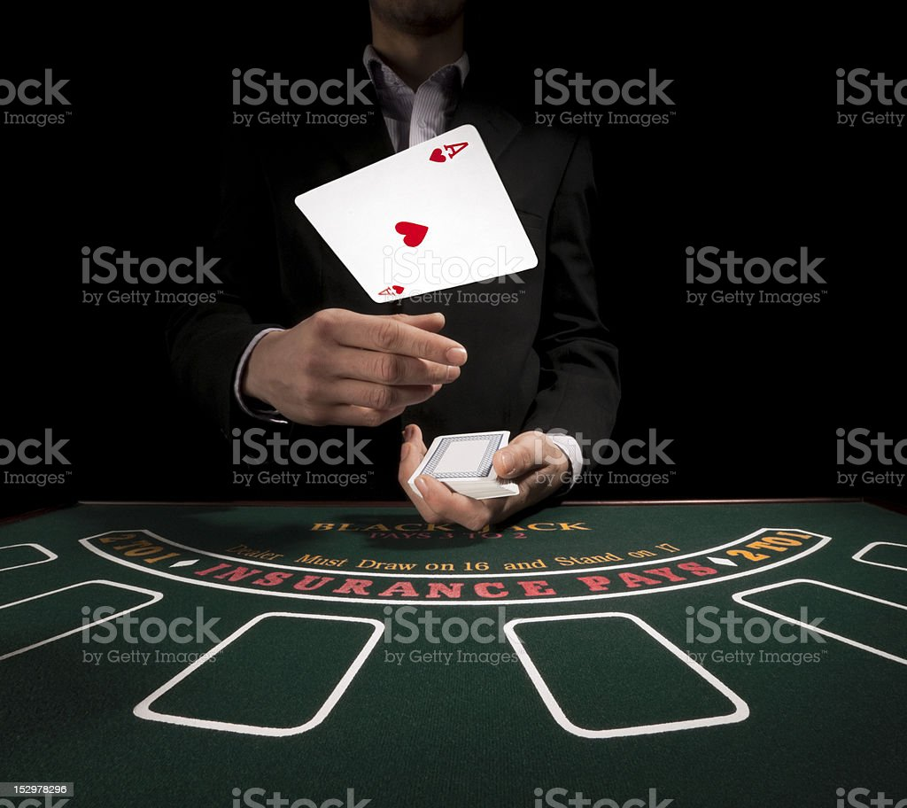 The dealer starts. stock photo