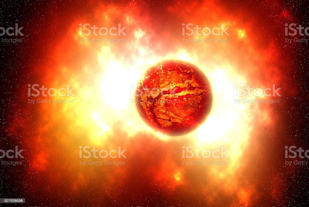 The death of a star, supernova stock photo