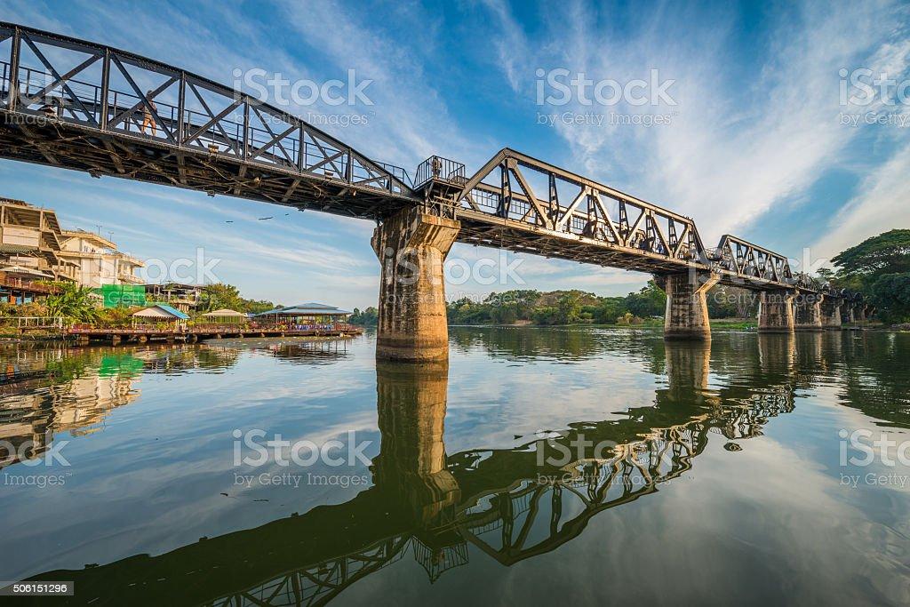 The death railway bridge over Kwai river stock photo
