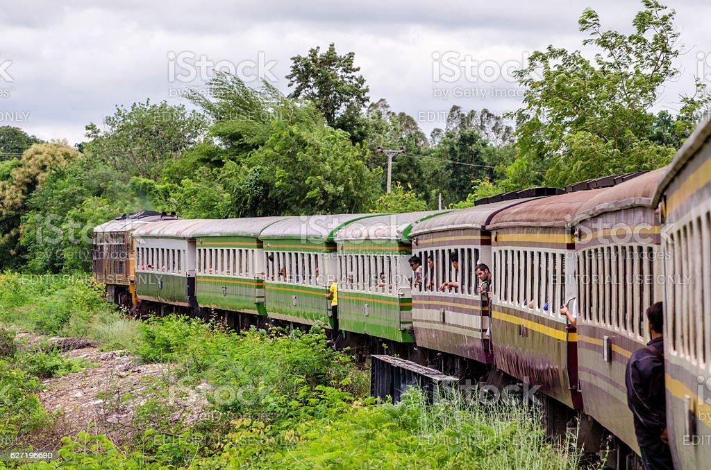 The Death Railway from Kanchanaburi to Nam Tok, Thailand stock photo