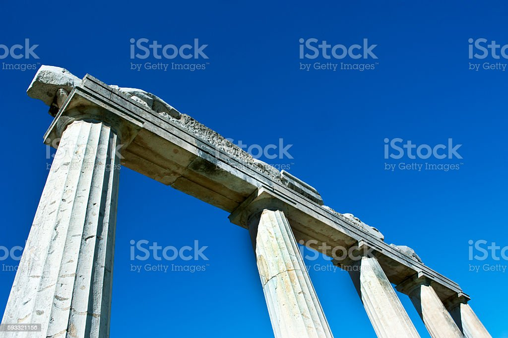 The deatil of Acropolis Parthenon stock photo