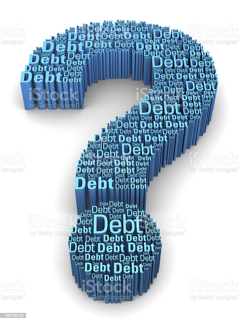 The debt question royalty-free stock photo