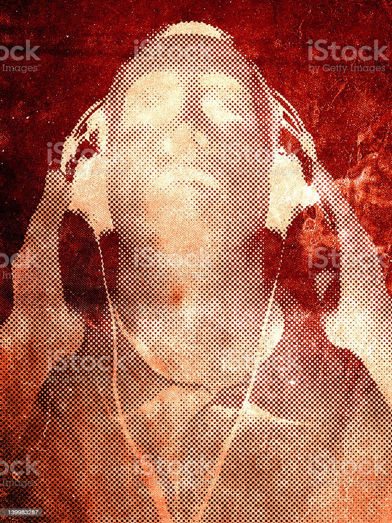 The Decay of music stock photo