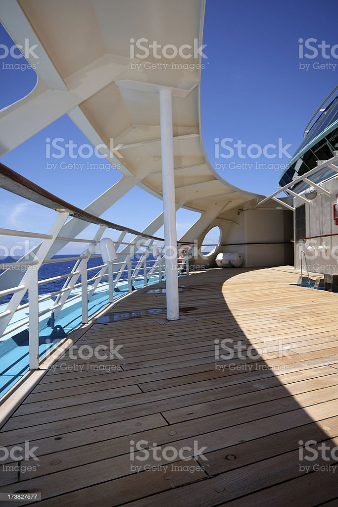 The Deck of a Cruise Ship royalty-free stock photo