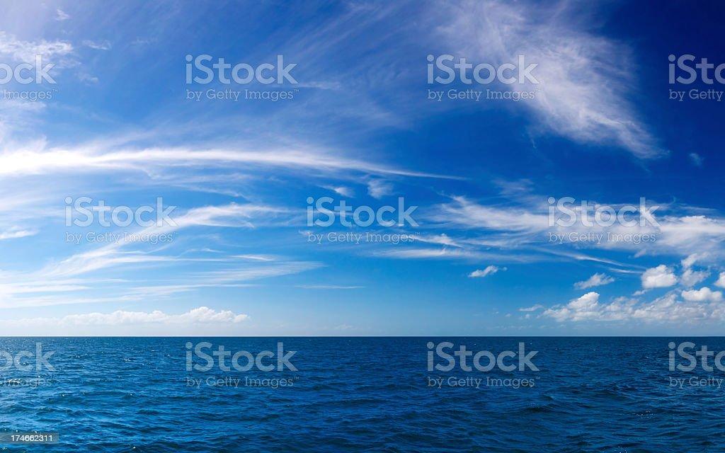 The Deep Blue Sea stock photo