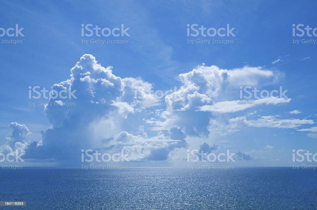 The Deep Blue Sea royalty-free stock photo