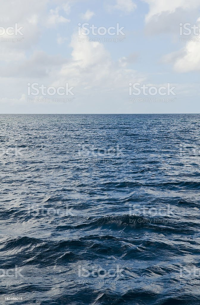 The Deep Blue Sea View royalty-free stock photo