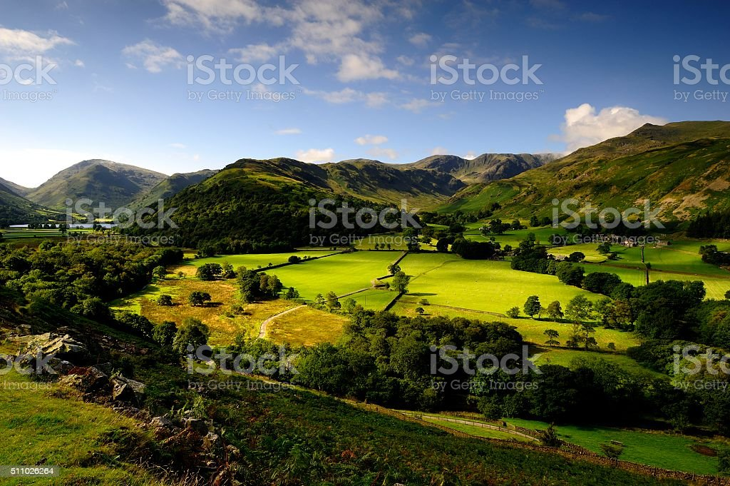 The Deepdale Valley stock photo