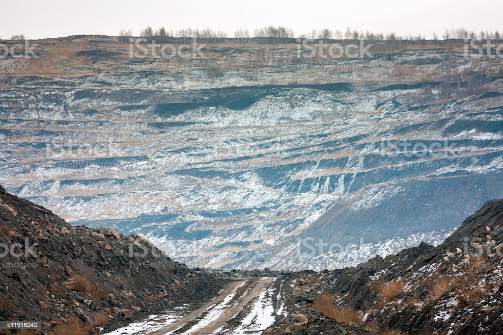 The deepest coal quarry in Europe royalty-free stock photo