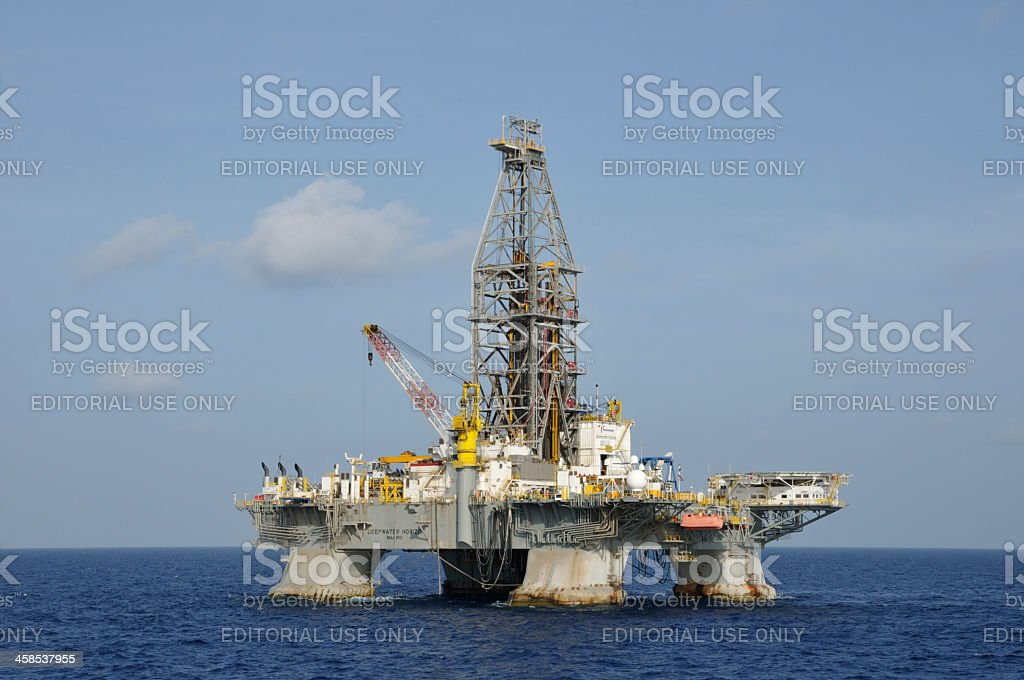 The Deepwater Horizon royalty-free stock photo