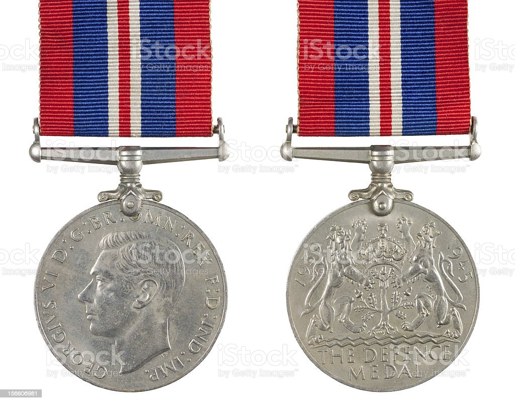 The Defence Medal royalty-free stock photo