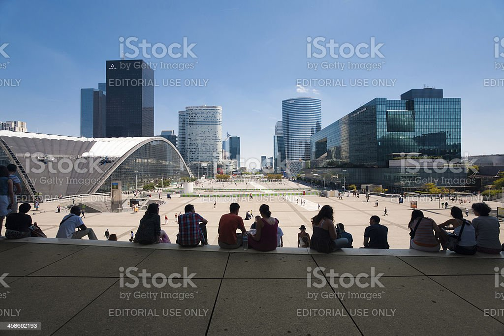 La Defense Grande Arche Steps royalty-free stock photo