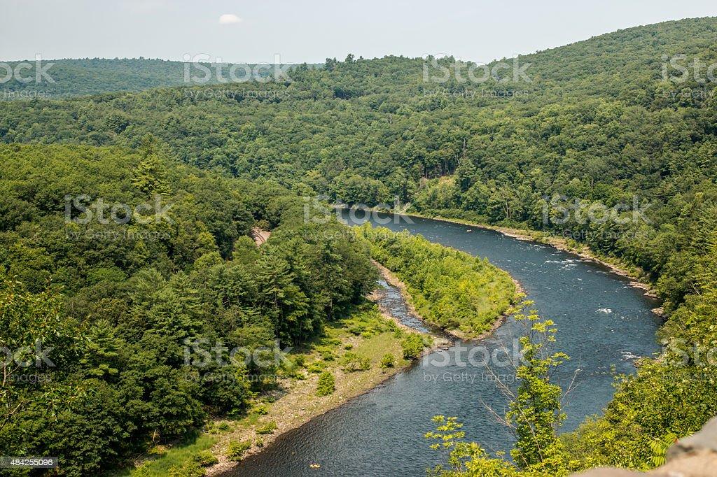 The Delaware River stock photo