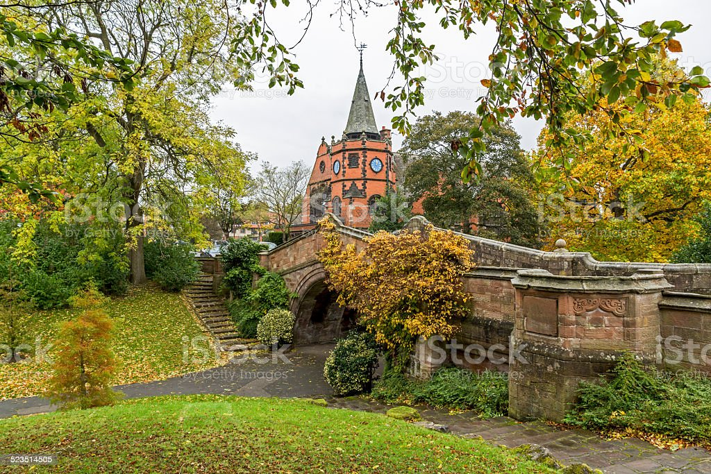 The Dell At Port Sunlight Village Wirral stock photo