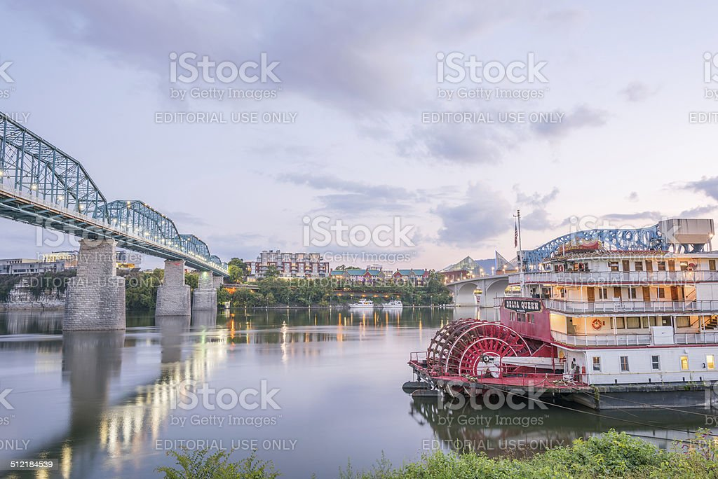 The Delta Queen riverboat hotel in Chattanooga stock photo