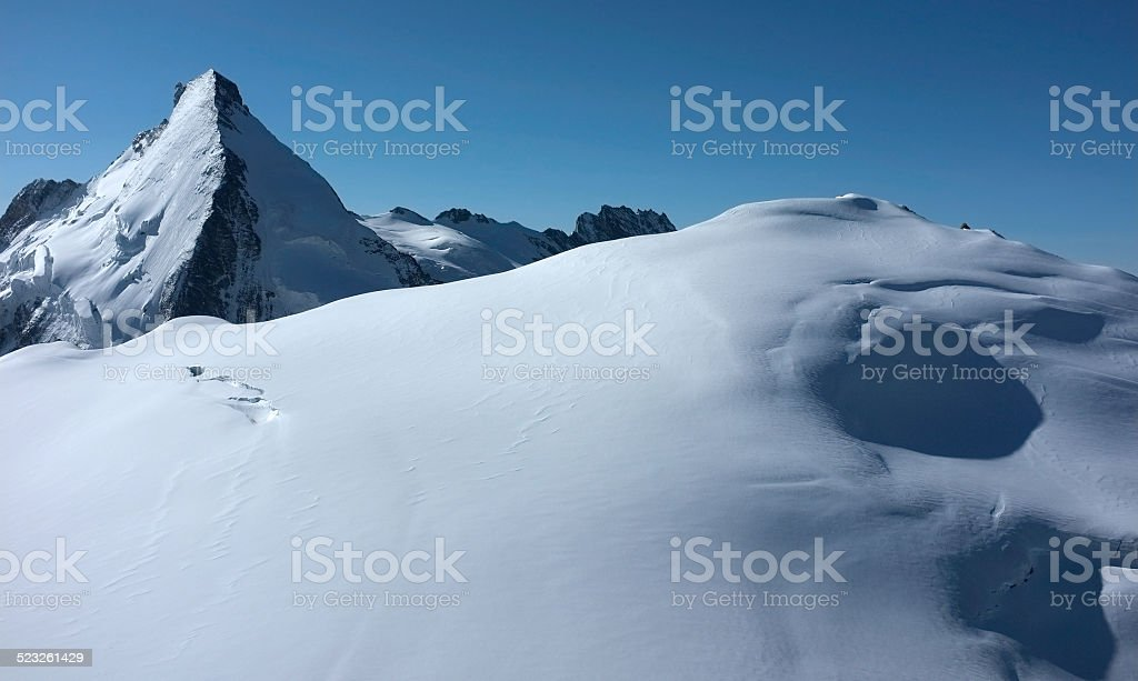 The Dent d'Herens and Tete Blanche stock photo
