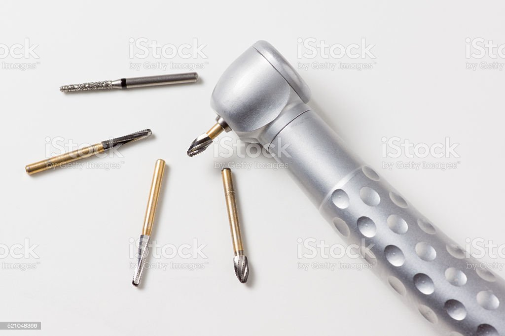 the dental handpiece stock photo