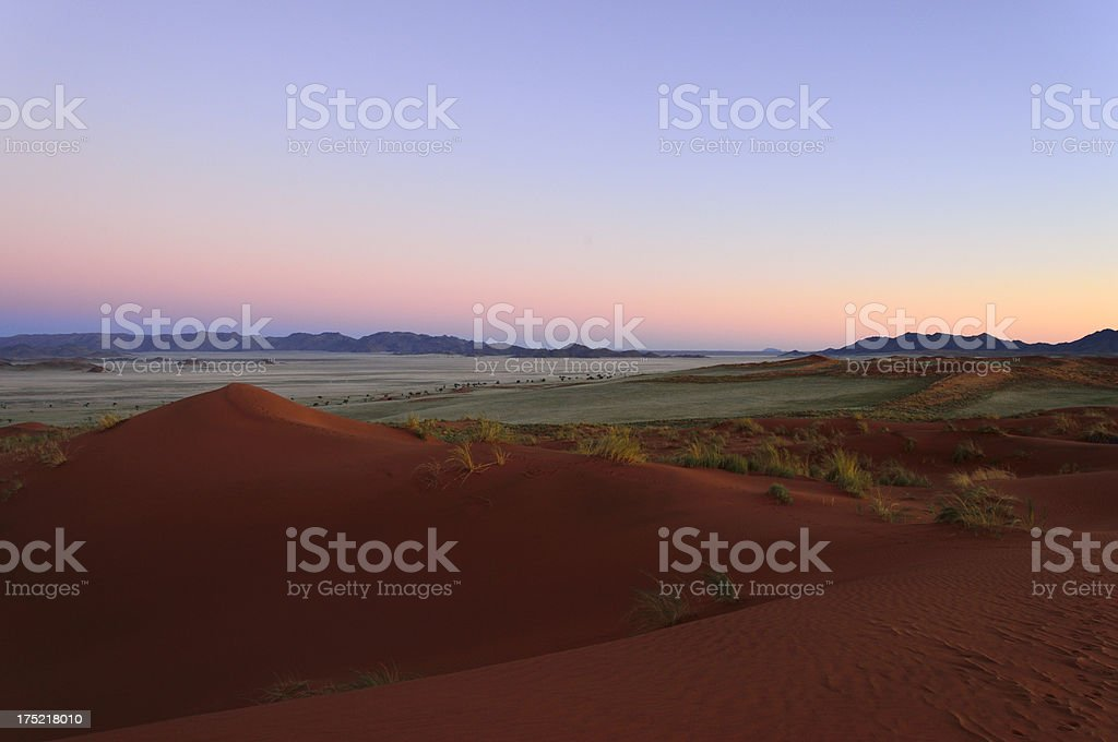 The desert after sunset royalty-free stock photo